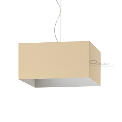 Parallelepiped Lampshade with Hazel Canvas covering