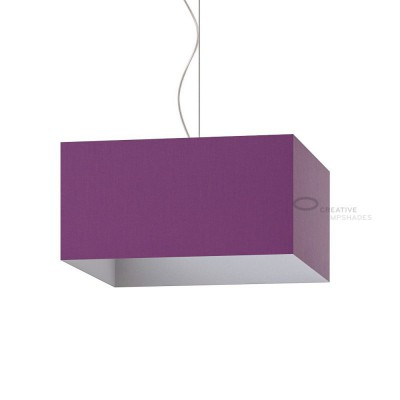 Parallelepiped Lampshade with Violet Canvas covering