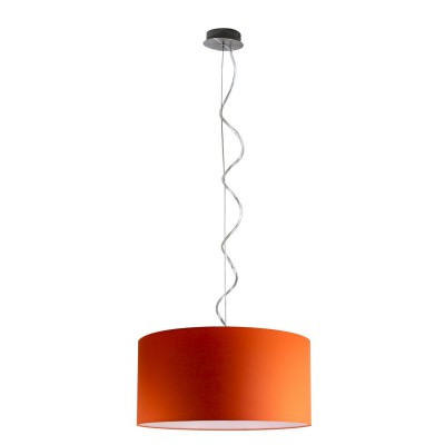 Round smooth metal pendant single lamp E 27 max 60 W