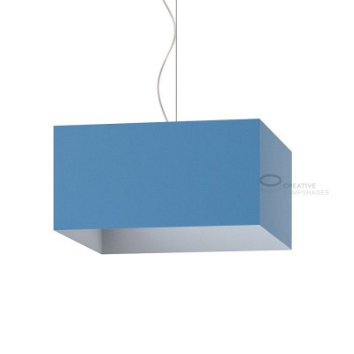 Parallelepiped Lampshade with Heavenly Blue Canvas covering