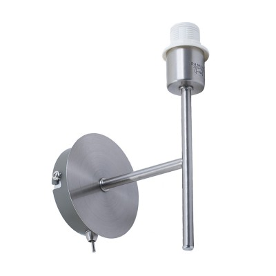 Wandleuchte Metall mit Schalter Single E 14 Max 40 W