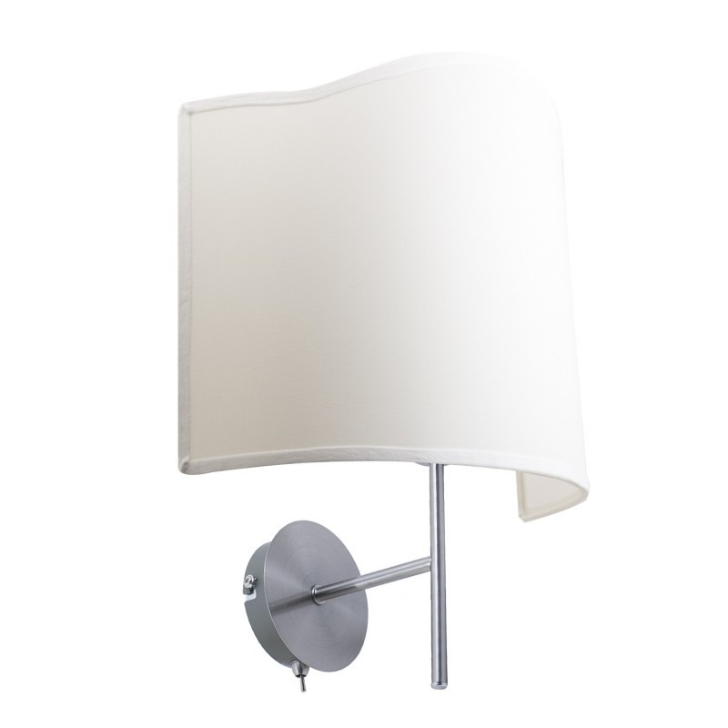 Simply smooth metal wall lamp with switch E 14 Max 40 W