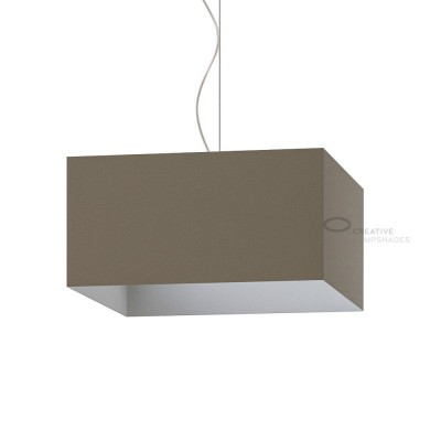 Parallelepiped Lampshade with Grey Arenal covering