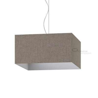 Parallelepiped Lampshade with Grey Camelot covering