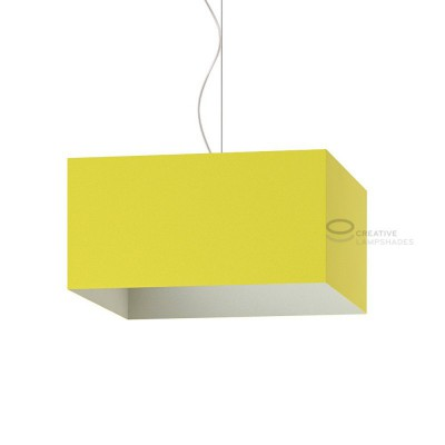 Parallelepiped Lampshade with Yellow Lumiere covering