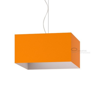 Parallelepiped Lampshade with Orange Lumiere covering