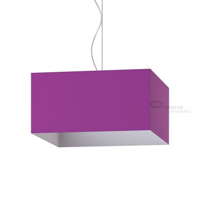 Parallelepiped Lampshade with Violet Lumiere covering