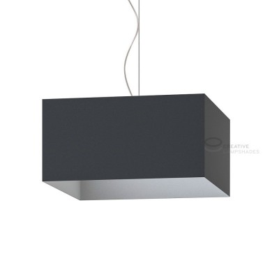 Parallelepiped Lampshade with Black Lumiere covering