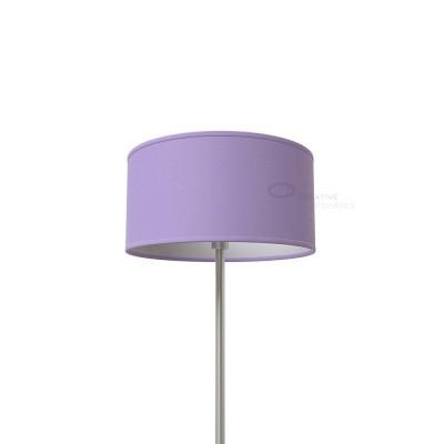 Lampenschirm Zylinder Lila Leinwand