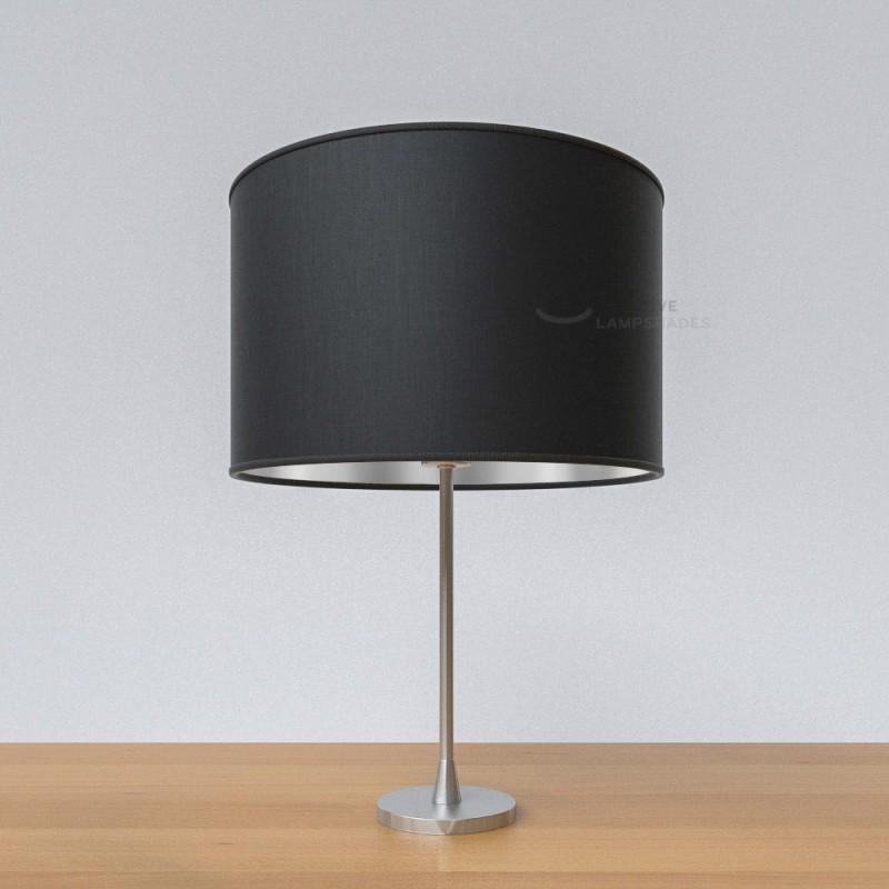 lampenschirm zylinder haselnuss leinwand innen gold. Black Bedroom Furniture Sets. Home Design Ideas