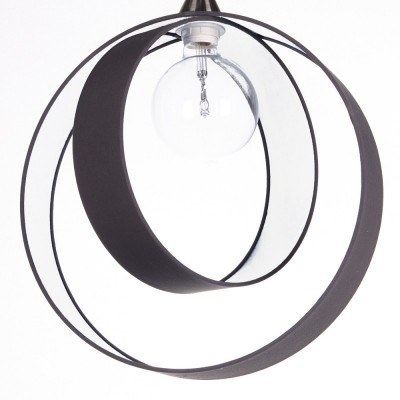Pendant lamps Earth Diam.40 H.40 external anthracite canvas