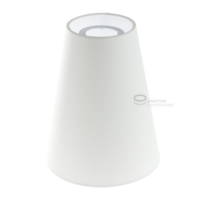 Cylinder Lampshade, Ø 16cm h20cm, White - 100% Made in Italy