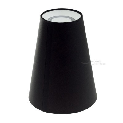 Cylinder Lampshade, Ø 16cm h20cm, Black - 100% Made in Italy