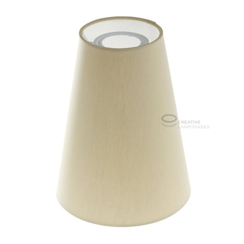 Zylindrischer Lampenschirm, Ø16cm H20cm, Taubengrau - 100% Made in Italy