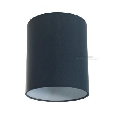 Zylindrischer Lampenschirm in Anthrazitgrau Cinette, Ø 15cm h18cm, Anschluss E27 - 100% Made in Italy