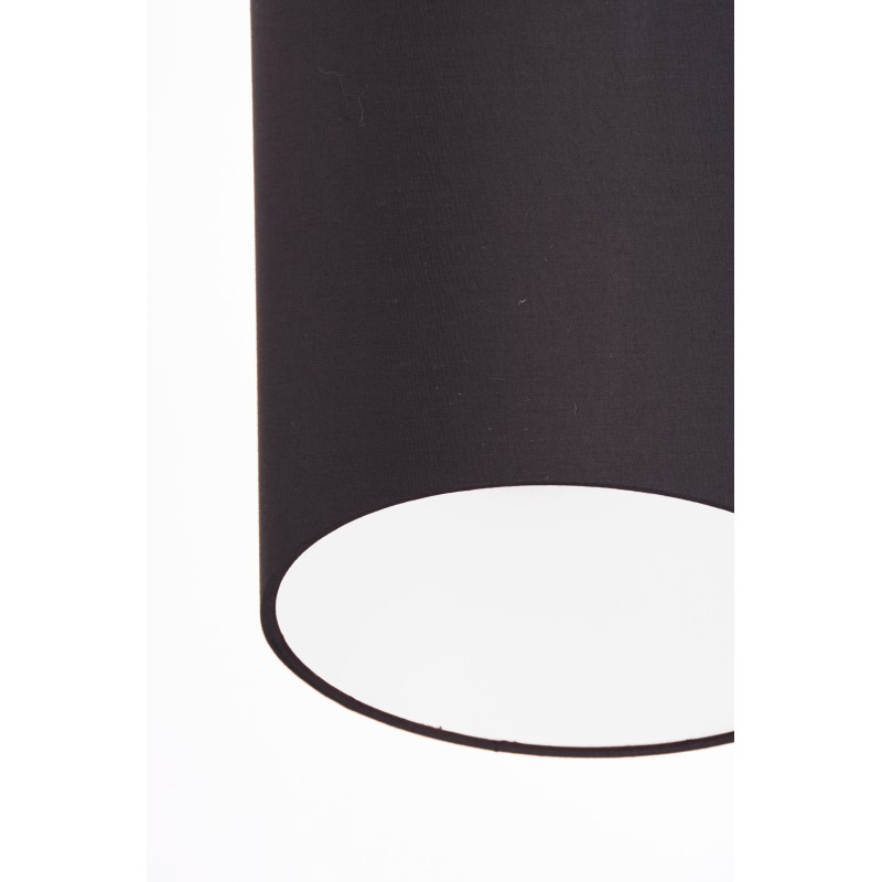 Plafoniera geometric stoffa antracite interno bianco