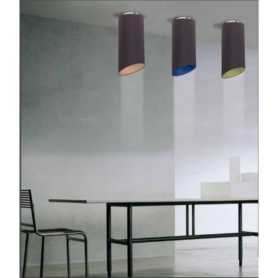 Geometrische Deckenleuchte mit Stoff außen Anthrazit, weiße Innenausstattung