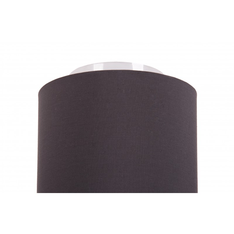 Geometric ceiling light with fabric external anthracite, taupe interior
