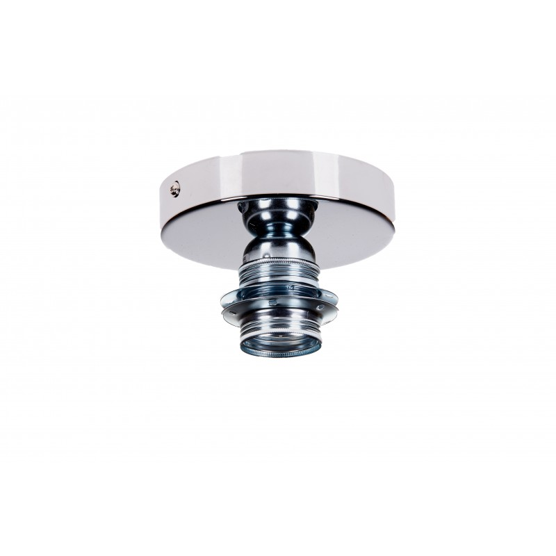 Geometric ceiling light with fabric external anthracite, white interior