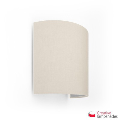 Half Cylinder Wall Lampshade Sand Canvas covering with  box