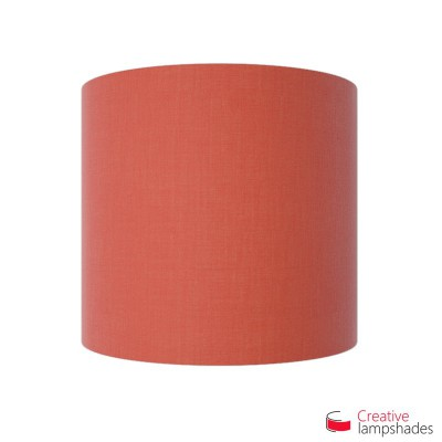 Half Cylinder Wall Lampshade Red Canvas covering with  box