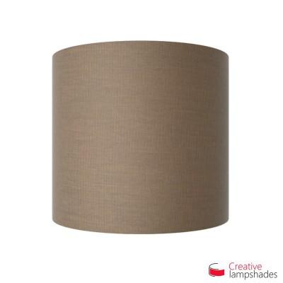 Wand Lampenschirm Zylinder halbrund ink Anschlussdose (Aufputz) braungrau Arenal Bezug