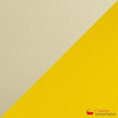 Wand Lampenschirm Zylinder halbrund ink Anschlussdose (Aufputz) Haselnuss Leinwand innen gold