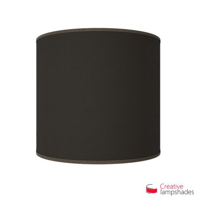 Half Cylinder Wall Lampshade Brown Jute with  box