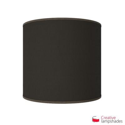 Wand Lampenschirm Zylinder halbrund ink Anschlussdose (Aufputz) terrabraun Jute Bezug