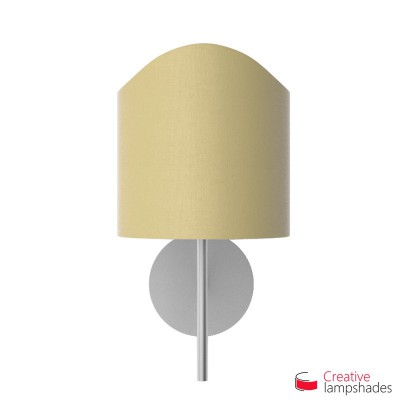 Scallop half cylinder lampshade for wall lamp Pale Yellow Canvas cover
