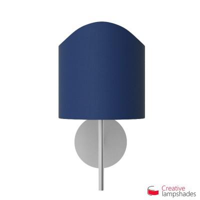 Paralume ventola sagomata per applique a muro rivestimento Teletta Blu
